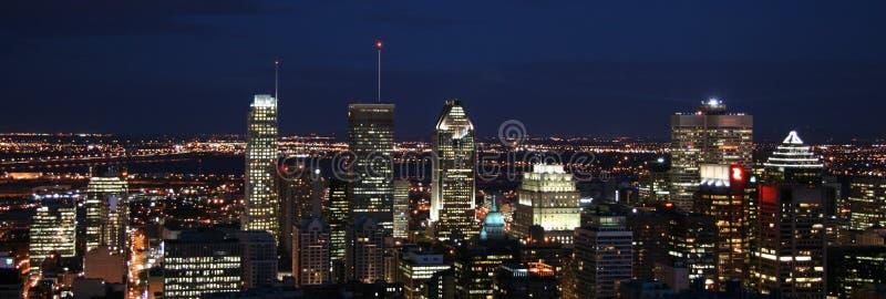 加拿大城市景观灯光天际线 免版税库存照片