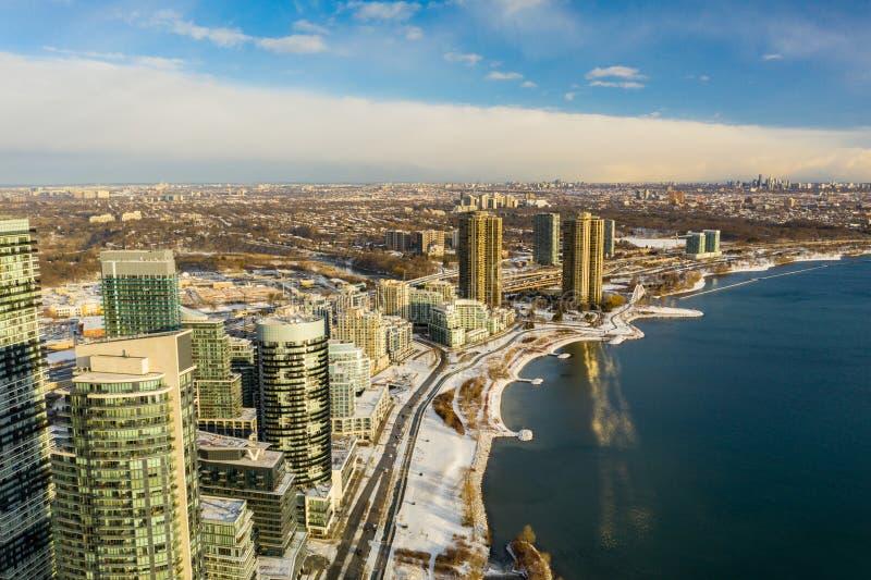 加拿大多伦多美丽航拍 免版税库存图片