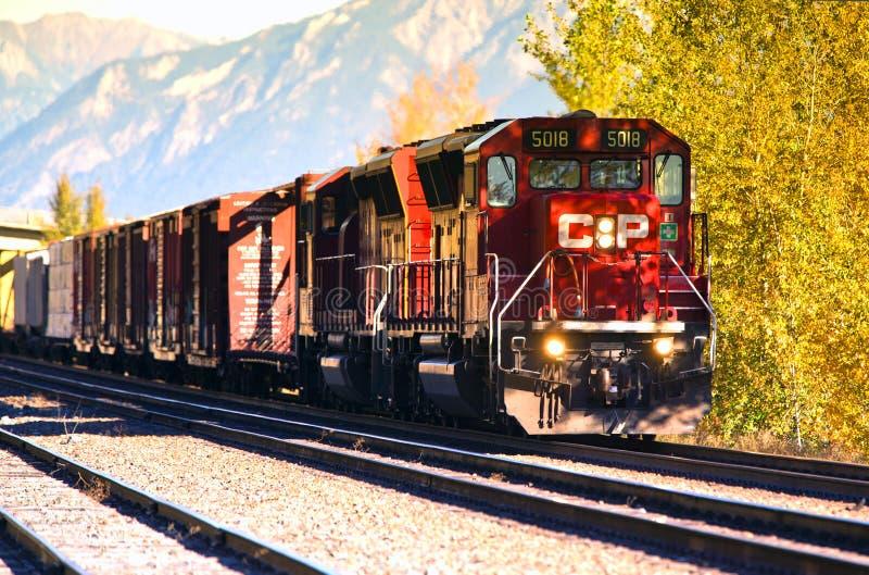 加拿大太平洋铁路货车 库存照片