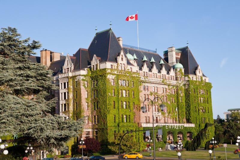 加拿大女皇fairmont旅馆维多利亚 图库摄影