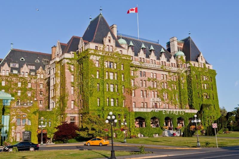 加拿大女皇fairmont旅馆维多利亚 库存照片