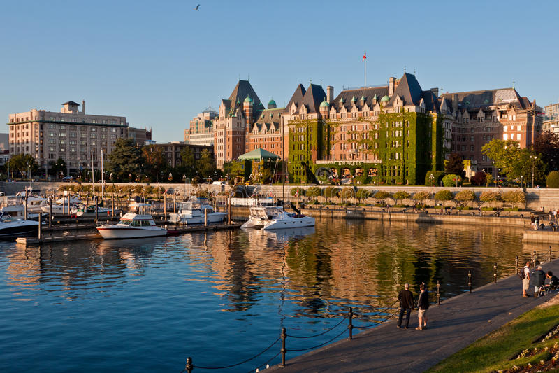 加拿大女皇fairmont旅馆维多利亚 库存图片