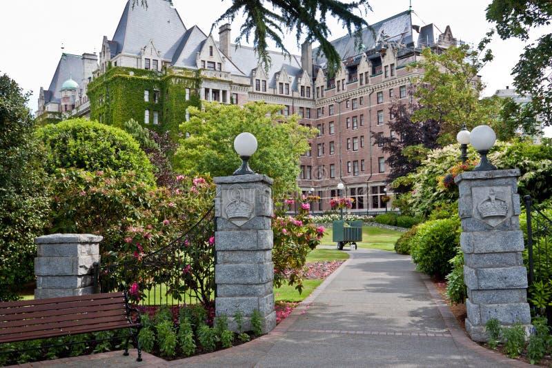 加拿大女皇fairmont旅馆维多利亚 免版税库存图片
