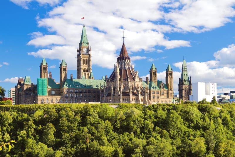 加拿大小山渥太华议会 免版税图库摄影
