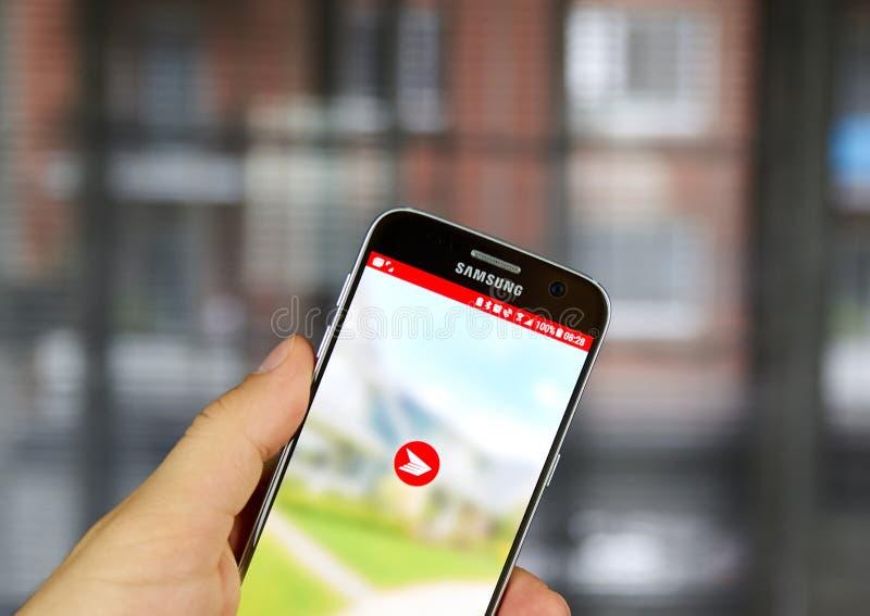 加拿大岗位流动app 免版税库存图片