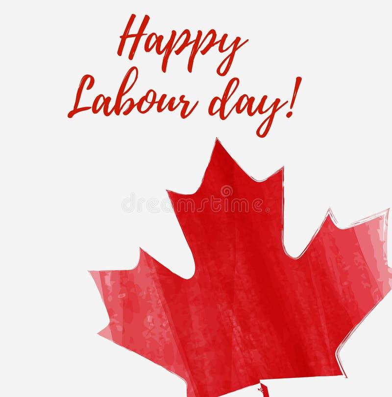 加拿大愉快的劳动节 库存例证