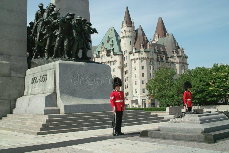 加拿大战士坟茔未知 图库摄影