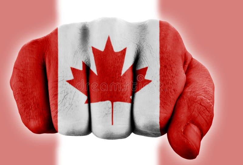加拿大拳头标志 库存照片