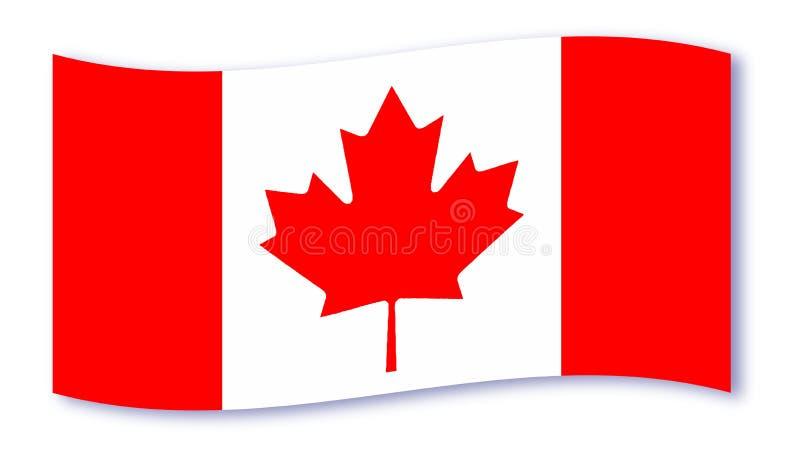 加拿大旗子波浪 库存例证