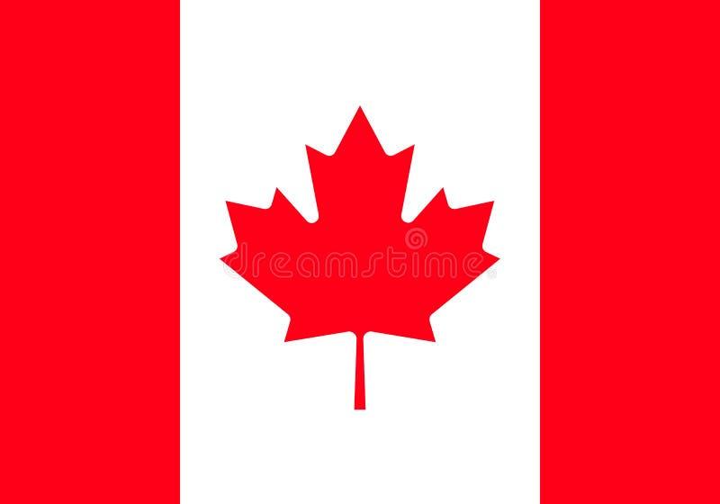加拿大旗子,正式颜色和恰当地成比例 加拿大的高详细的传染媒介旗子 向量例证
