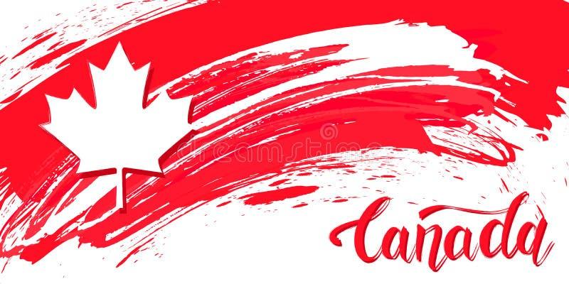 加拿大日设计卡片 皇族释放例证