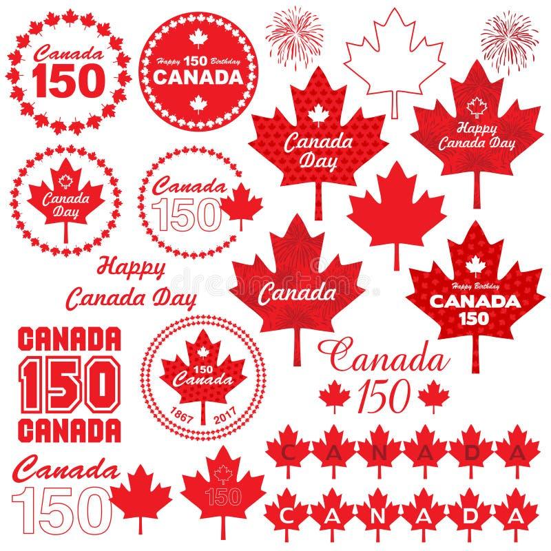 加拿大日clipart 皇族释放例证