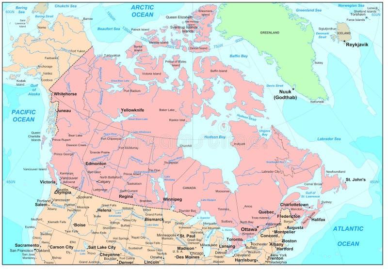 加拿大映射 向量例证