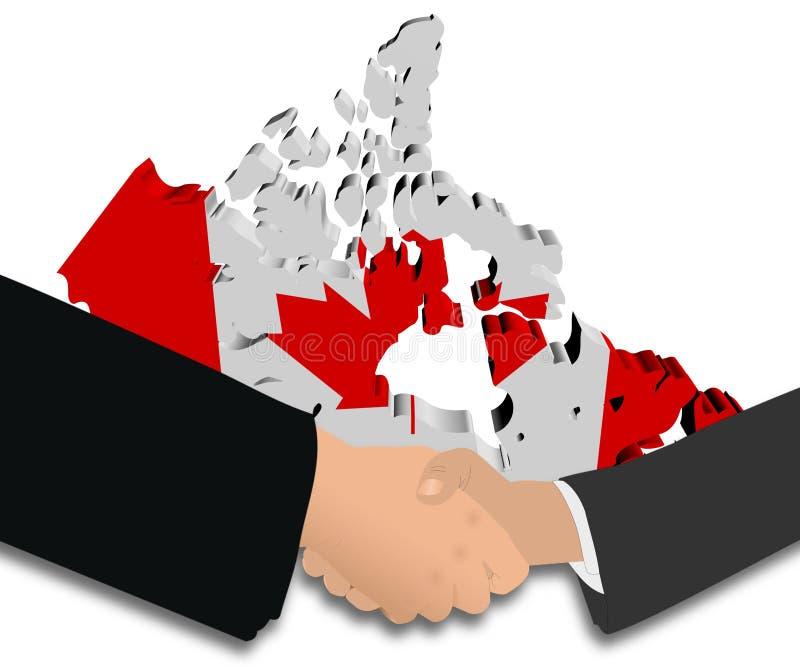 加拿大标志信号交换映射 库存例证