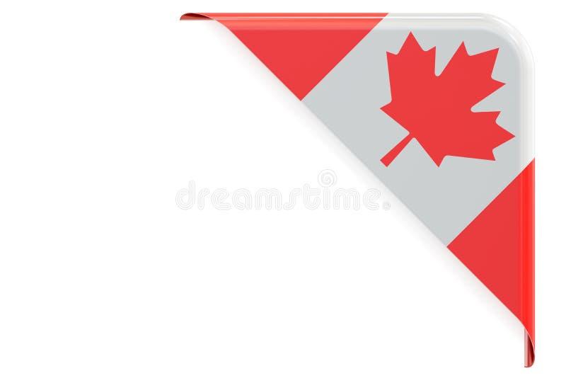 加拿大标志 角落,按钮,标签 3d翻译 向量例证
