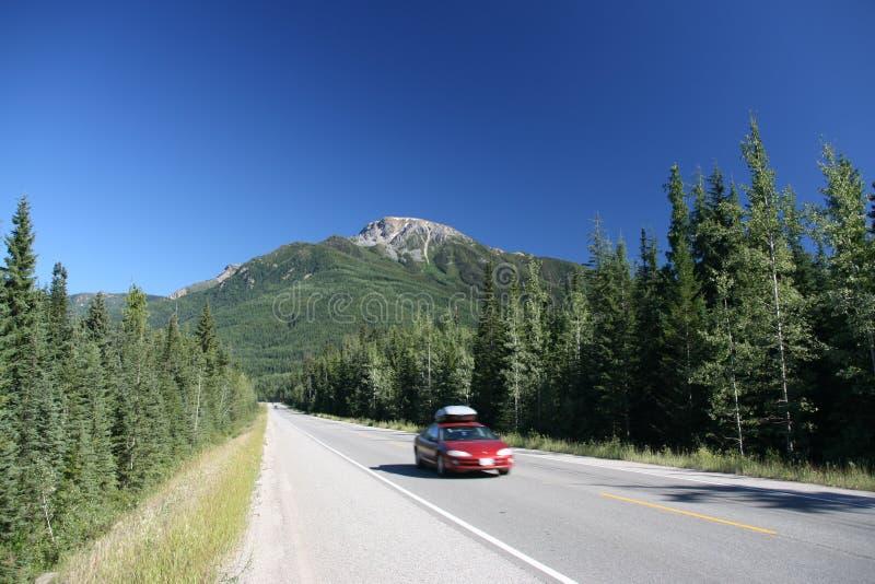 加拿大横向山 免版税库存照片