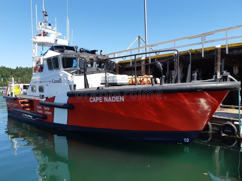 加拿大海岸警卫小船 免版税库存照片