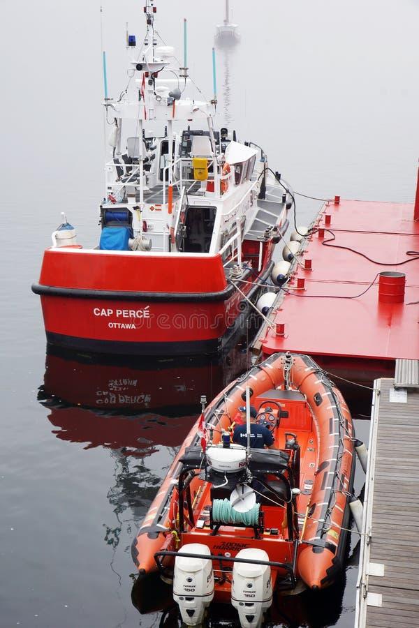 加拿大海岸警卫船 库存图片