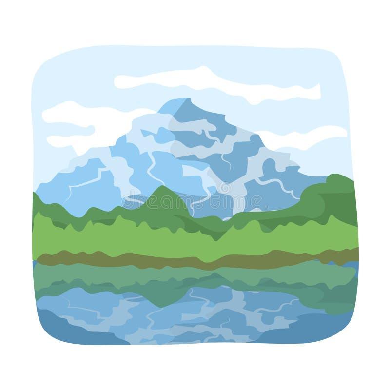 加拿大瀑布 在动画片样式传染媒介标志股票例证网的加拿大唯一象 向量例证