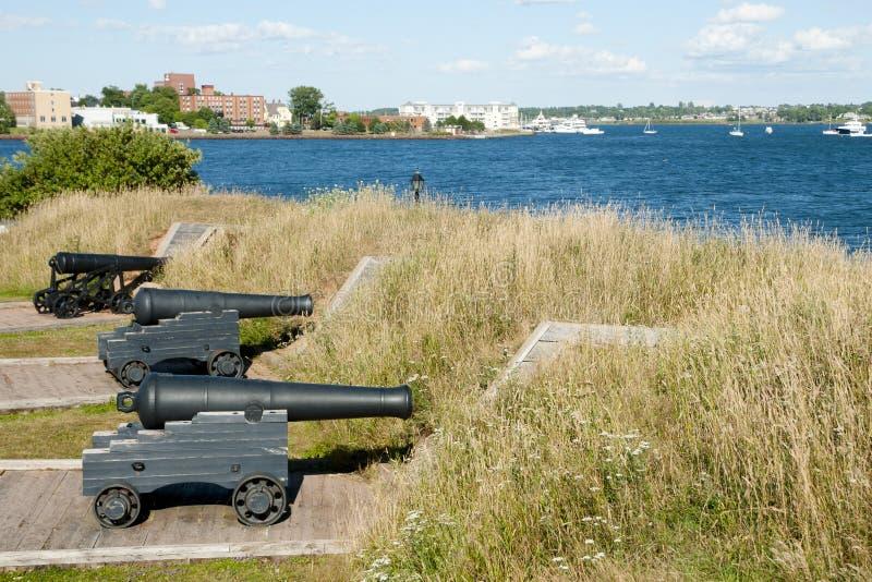 加拿大王子爱德华Battery -夏洛特敦- 库存照片
