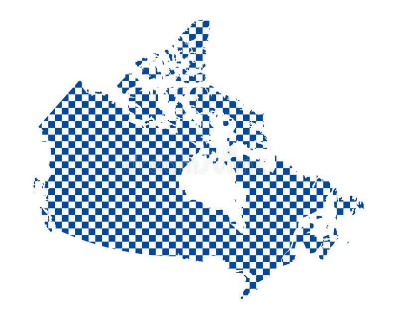 加拿大的地图棋盘样式的 向量例证
