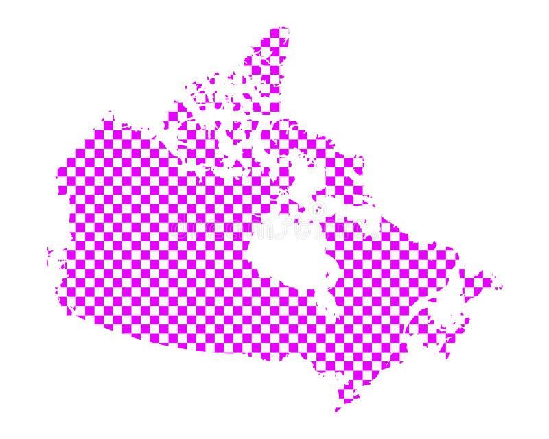 加拿大的地图棋盘样式的 皇族释放例证