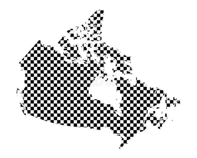 加拿大的地图棋盘样式的 库存例证