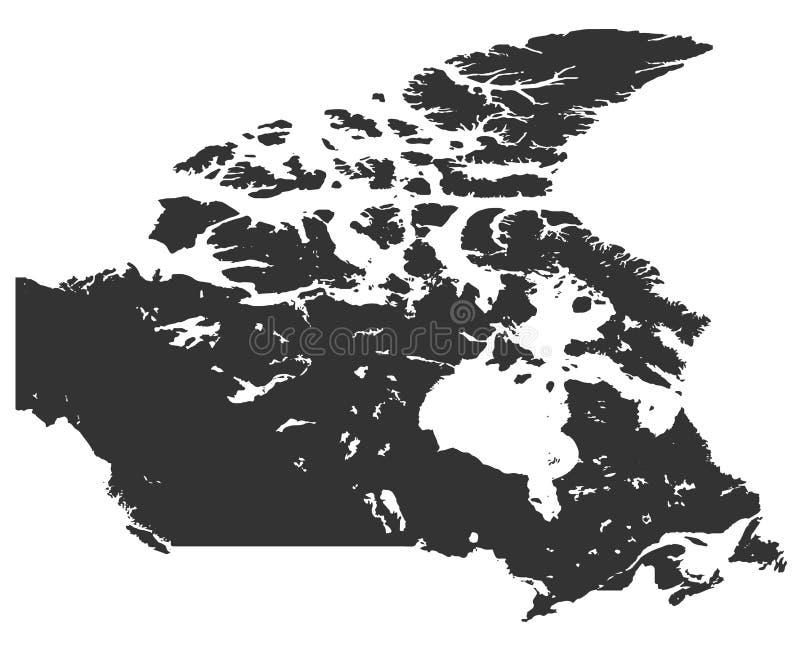 加拿大的地图高分辨率的 向量例证