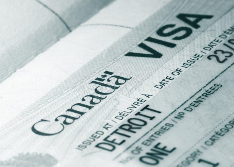 加拿大签证 免版税库存照片
