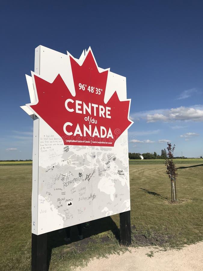 加拿大纪念碑的中心 图库摄影