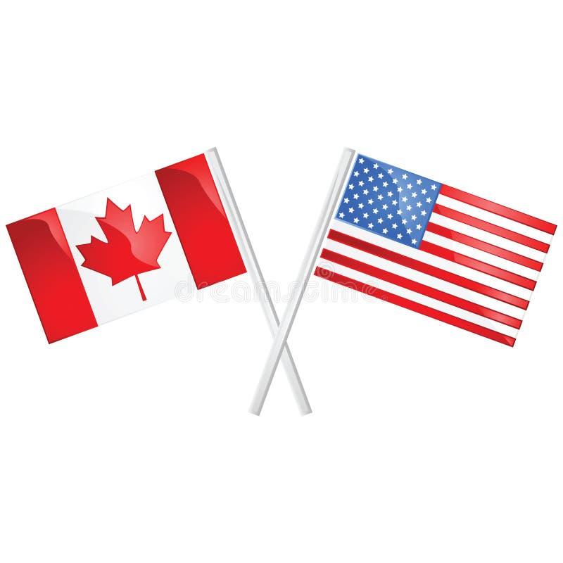 加拿大美国 向量例证