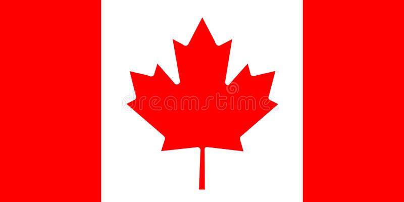 加拿大背景国旗编辑和设计师的 国庆节 皇族释放例证