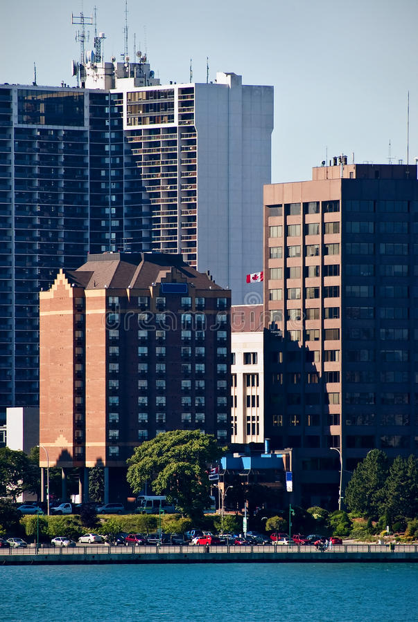 加拿大街市windsor 库存照片