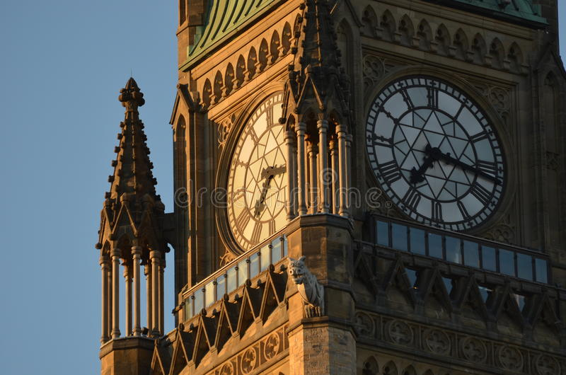 加拿大议会和平塔  图库摄影