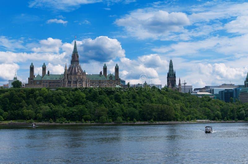 加拿大议会小山 免版税图库摄影