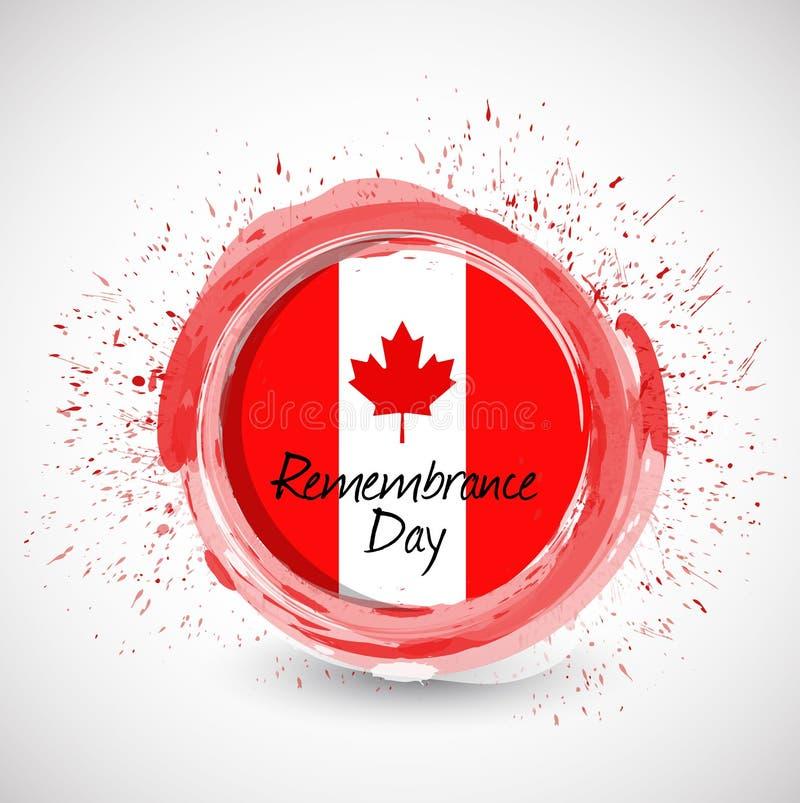 加拿大记忆天墨水标志例证 皇族释放例证