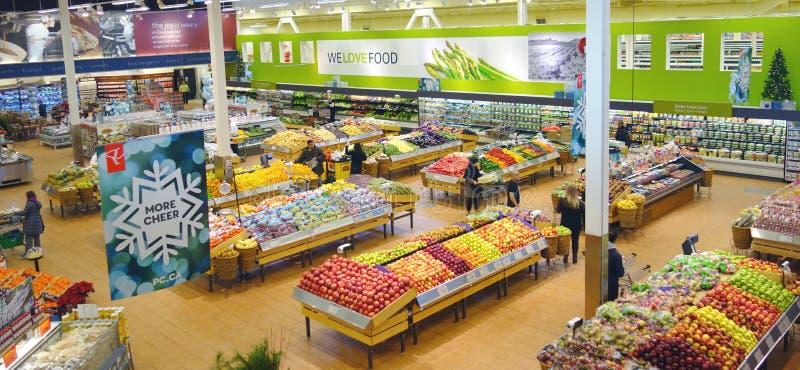 加拿大超级市场 免版税库存图片