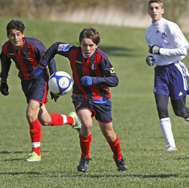 加拿大追求魁北克足球 免版税库存图片
