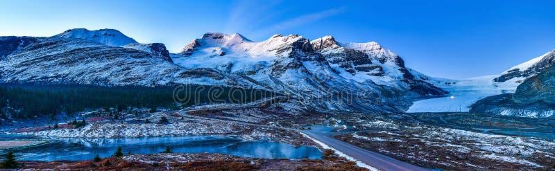 加拿大阿萨巴斯卡冰川贾斯帕国家公园 库存图片