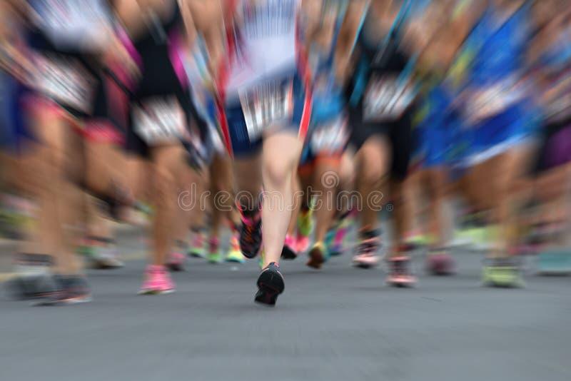 加拿大马拉松安大略渥太华赛跑者 免版税图库摄影