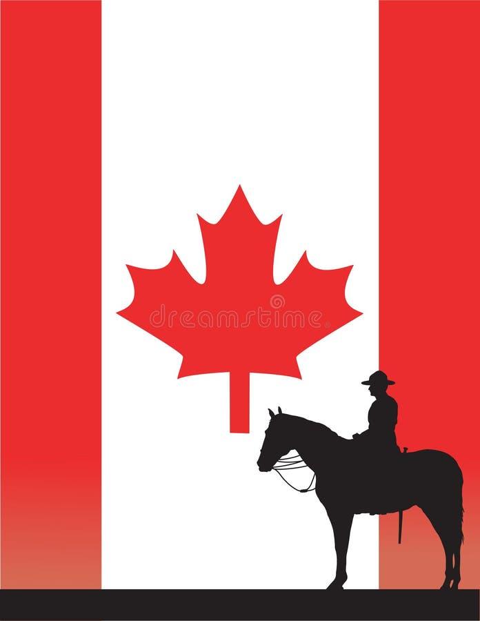 加拿大骑警队员 向量例证