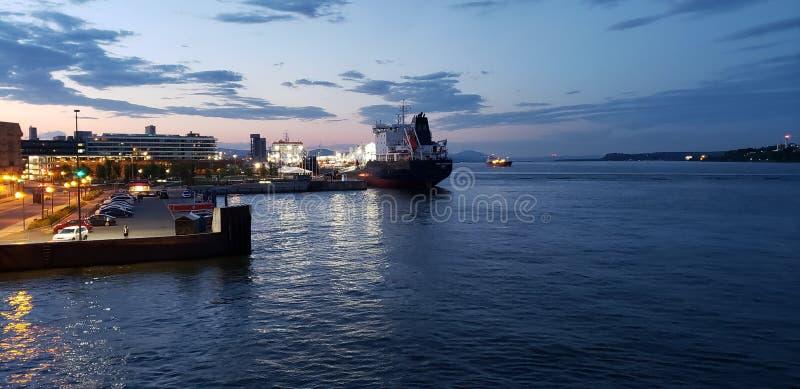 加拿大魁北克市河口 库存图片