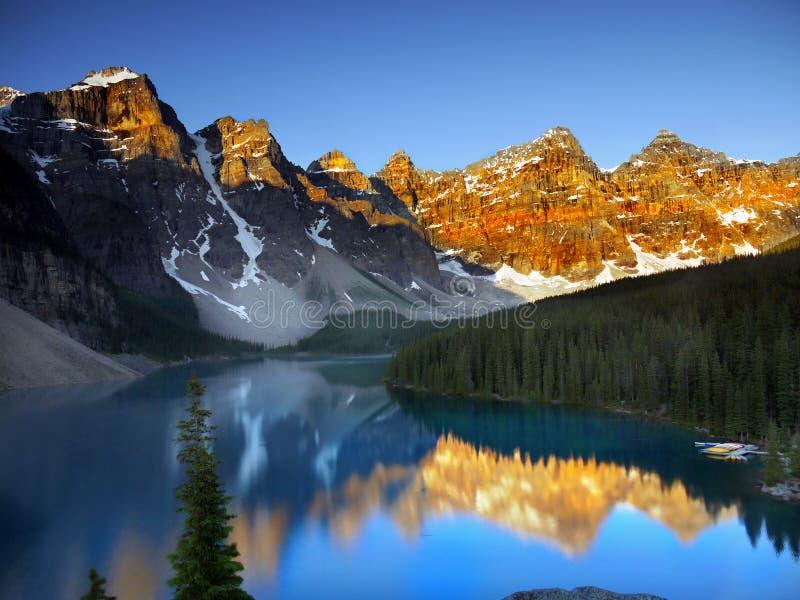 加拿大,自然风景,班夫国家公园 免版税库存图片