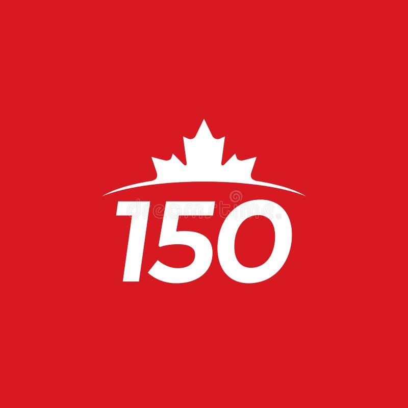 加拿大150 向量例证