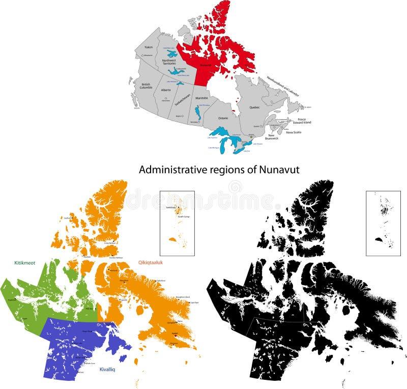 加拿大nunavut省 库存例证
