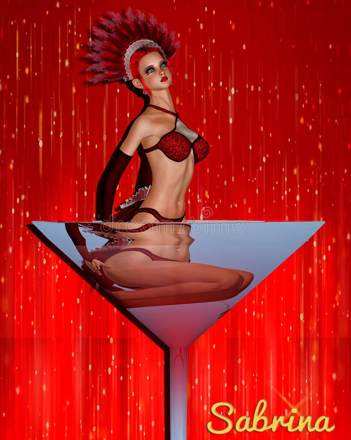 维加斯歌舞女郎Sabrina 免版税库存图片
