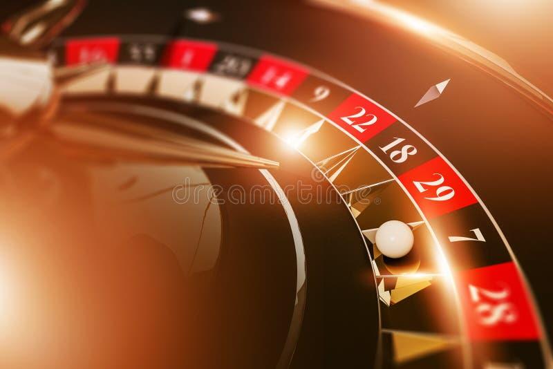 维加斯赌博娱乐场轮盘赌比赛 库存例证