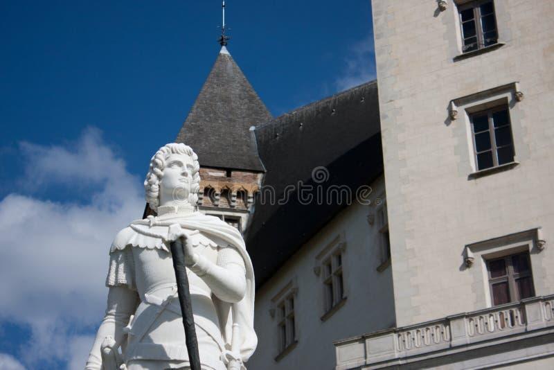 加斯顿Febus雕塑在波城 库存图片