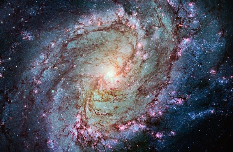 更加杂乱83,南部的轮转焰火星系,在星座H的M83 图库摄影