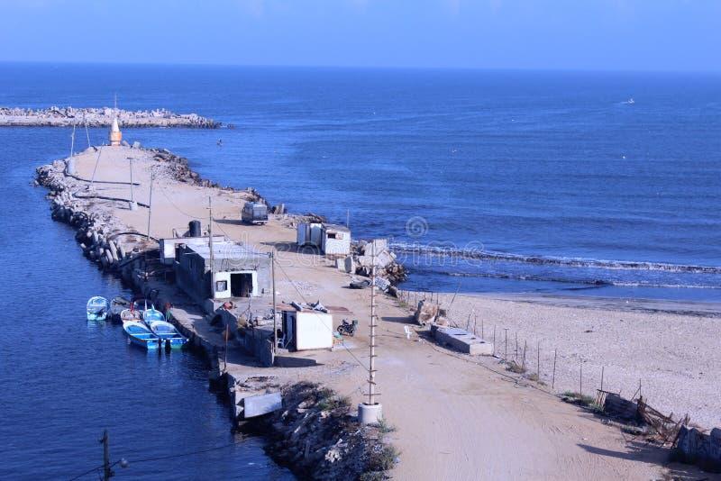 加沙海港 库存照片
